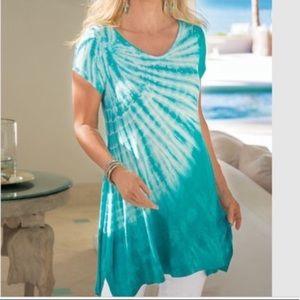 Soft Surroundings | Mira Costa Tunic Tie Dye Boho